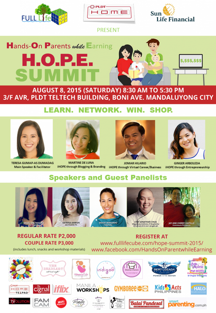 HOPE Summit poster with logos