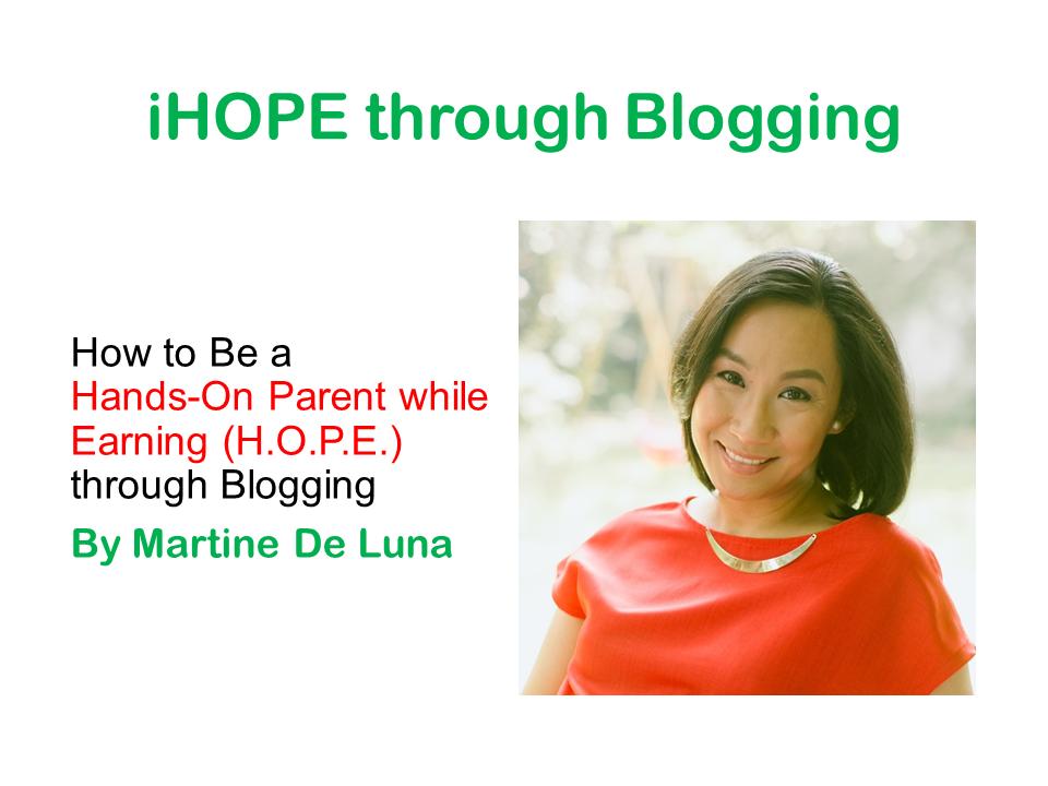 iHOPE through Blogging