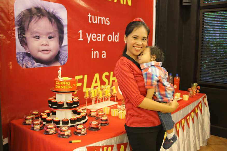 One Year Old In A Flash Birthday Party For My Youngest Child Hands